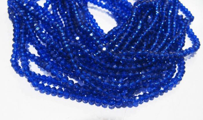 Sky Blue Quartz Glass Faceted Rondelle Beads-Strand 15inch.